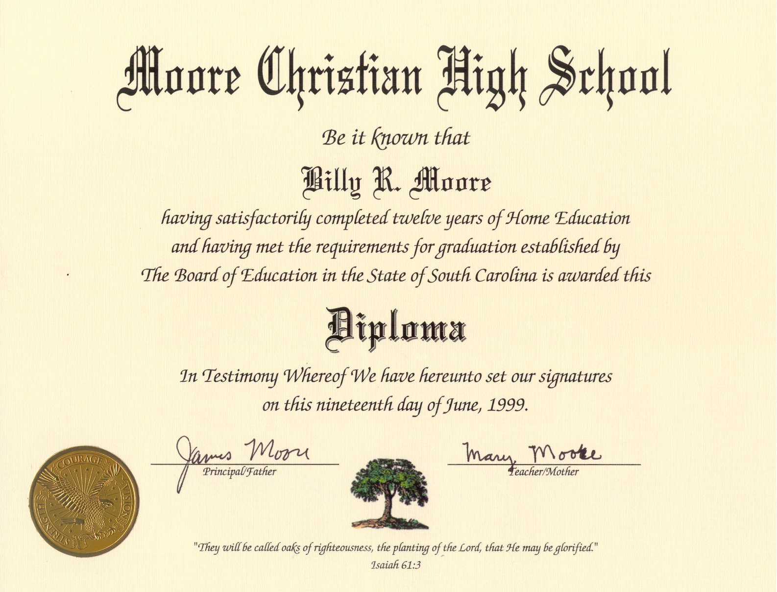 Diploma homeschool diploma template for Free high school diploma templates